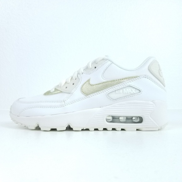 brand new 5594d 0a2fa NIKE Air Max 90 LEATHER (Gs) Womens